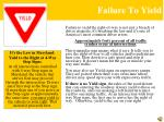failure to yield