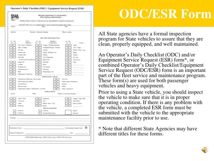 ODC/ESR Form