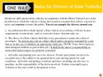 rules for drivers of state vehicles3