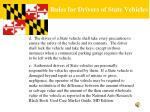 rules for drivers of state vehicles4
