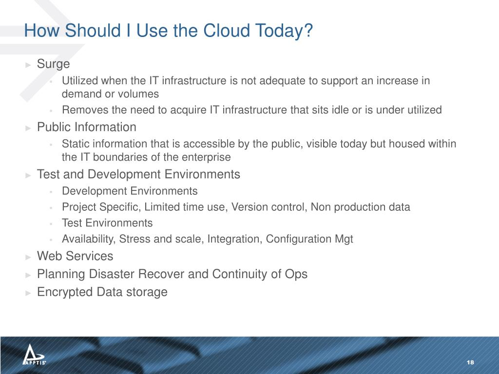 How Should I Use the Cloud Today?