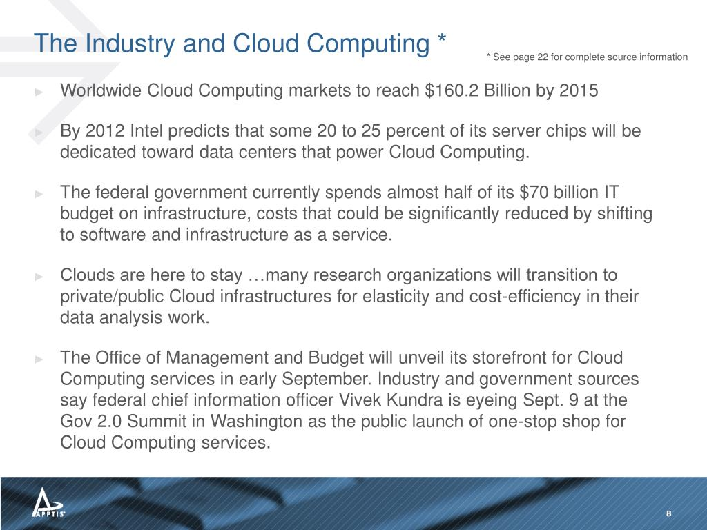 The Industry and Cloud Computing *