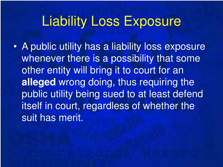 Liability Loss Exposure