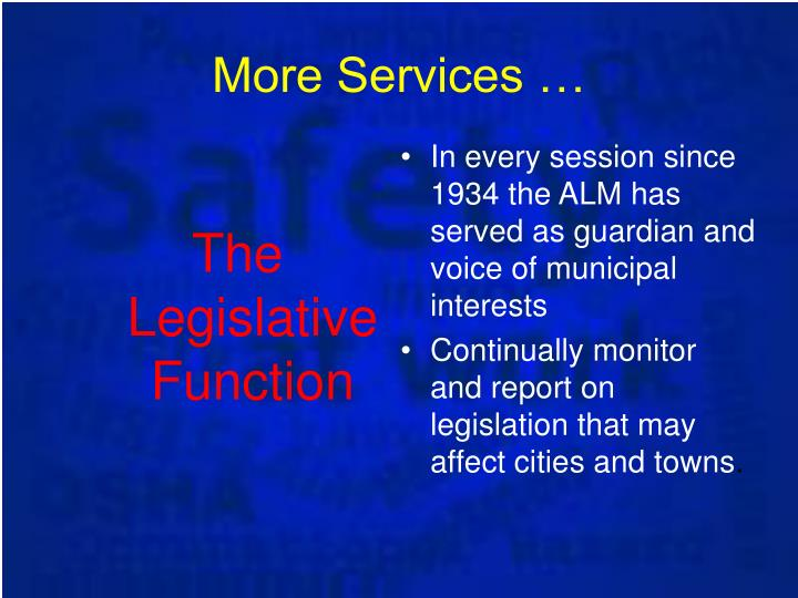 The Legislative Function