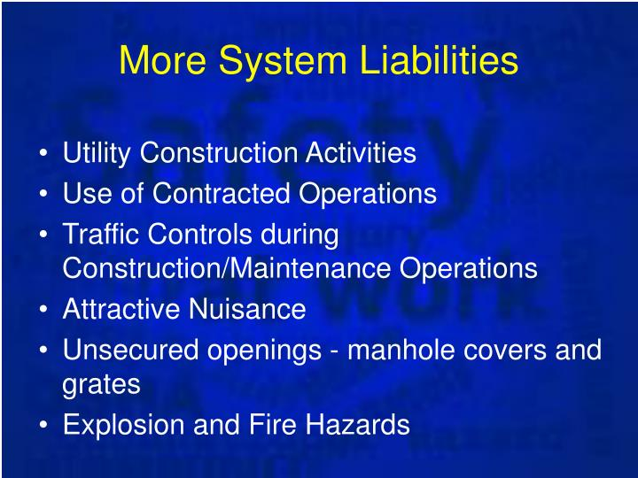More System Liabilities
