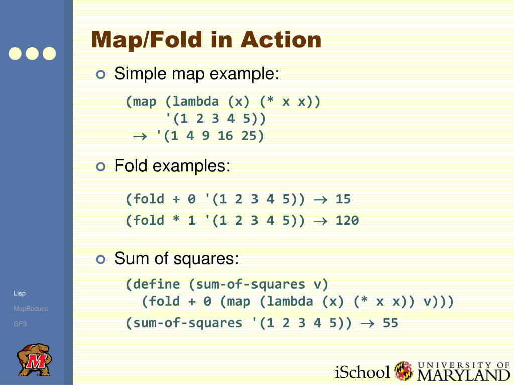 Map/Fold in Action