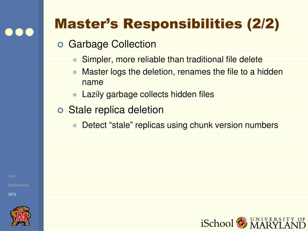 Master's Responsibilities (2/2)