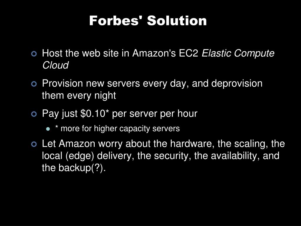 Forbes' Solution