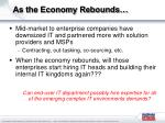 as the economy rebounds