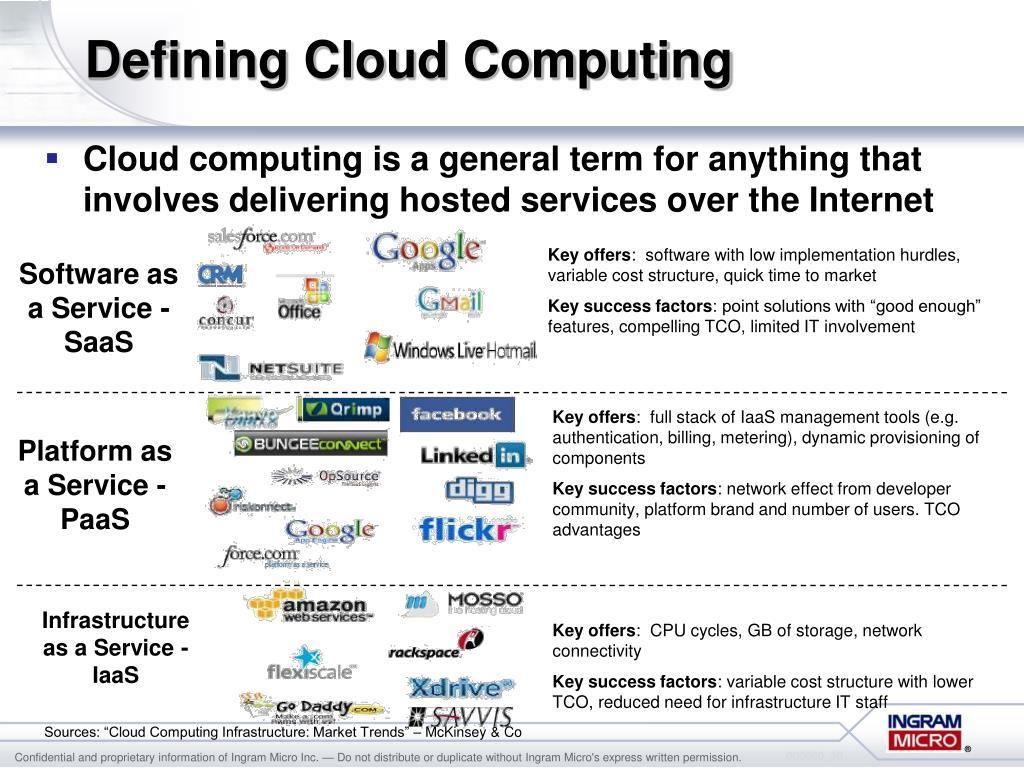 Defining Cloud Computing