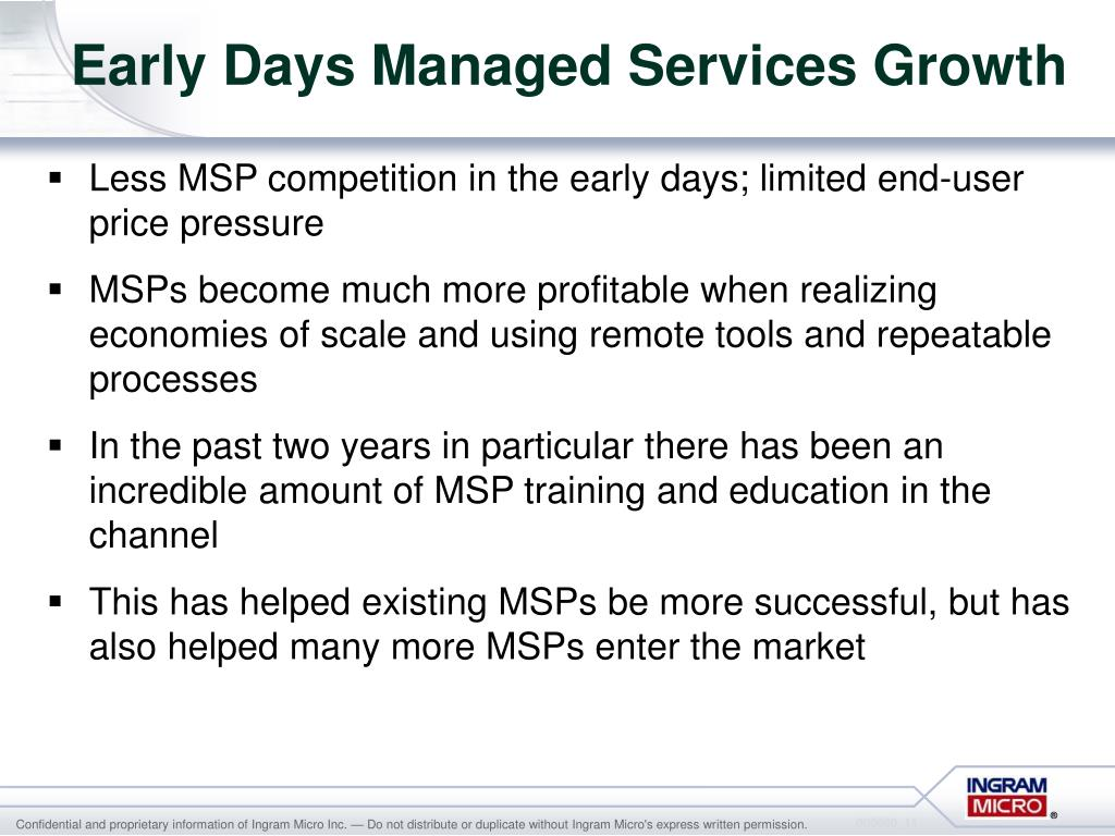 Early Days Managed Services Growth