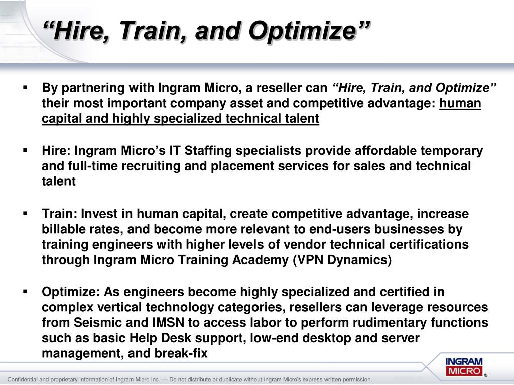 """Hire, Train, and Optimize"""