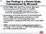key findings in a recent study commissioned by microsoft