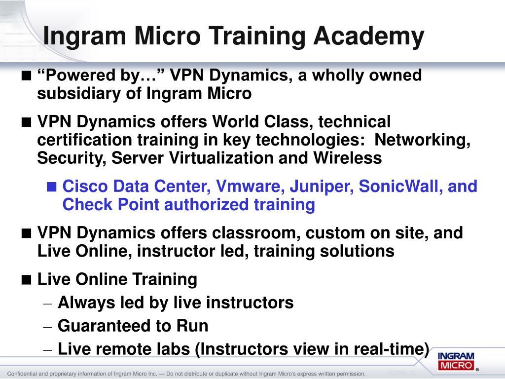 Ingram Micro Training Academy