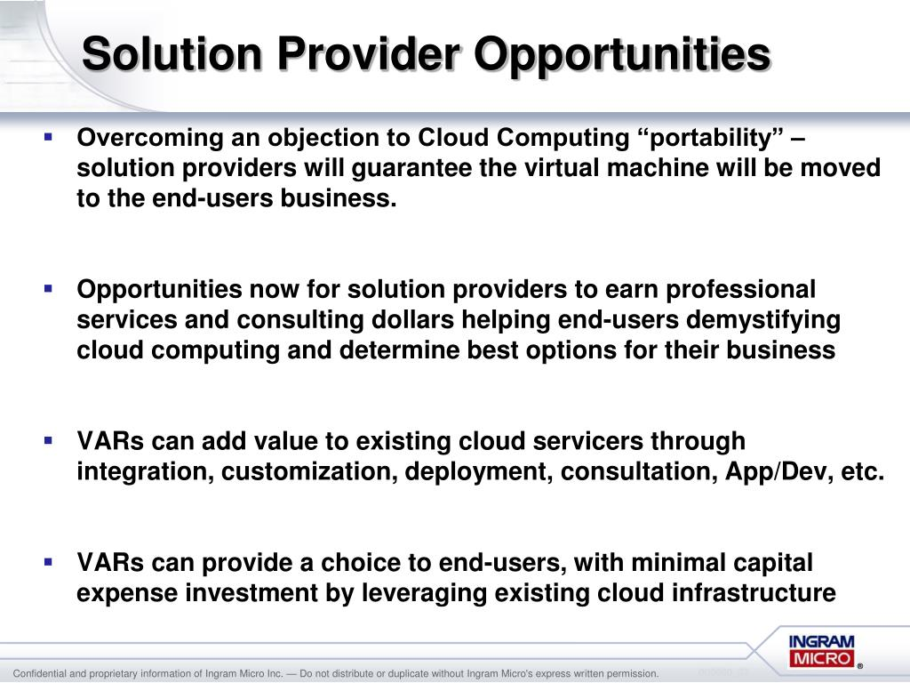 Solution Provider Opportunities