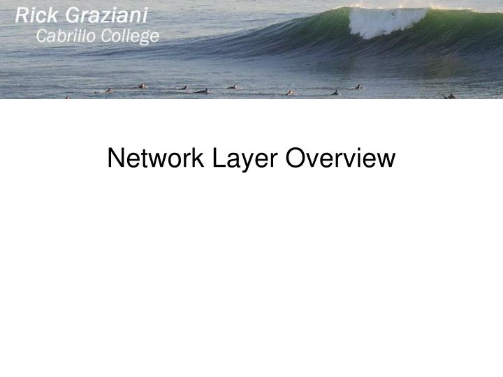 Network Layer Overview