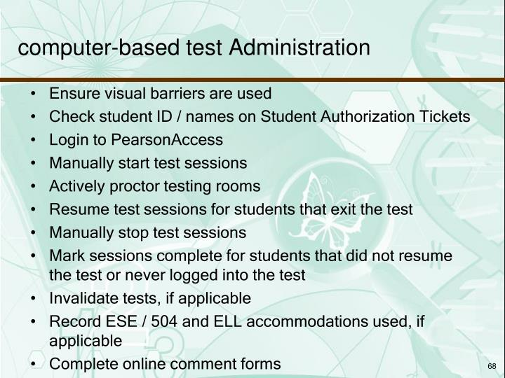 computer-based test Administration
