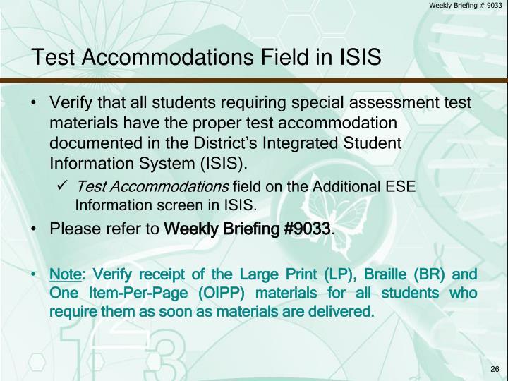 Weekly Briefing # 9033