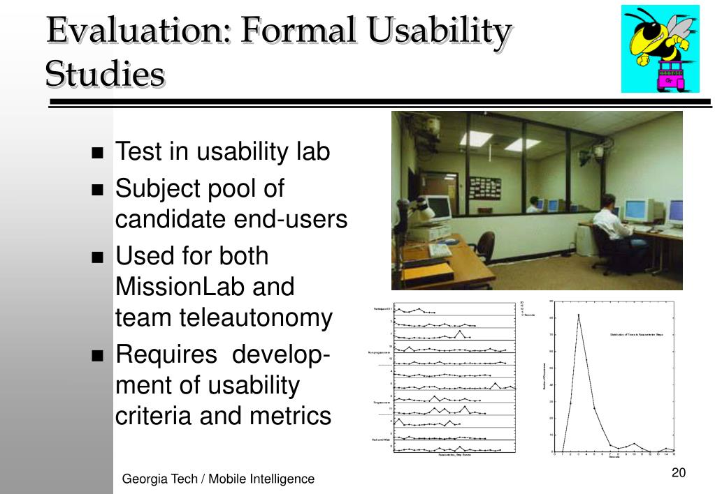 Evaluation: Formal Usability Studies