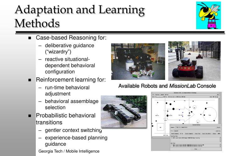 Adaptation and learning methods