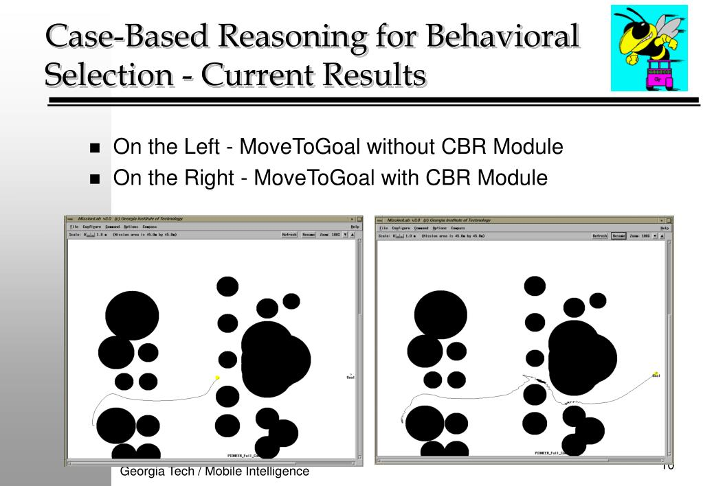 Case-Based Reasoning for Behavioral Selection - Current Results