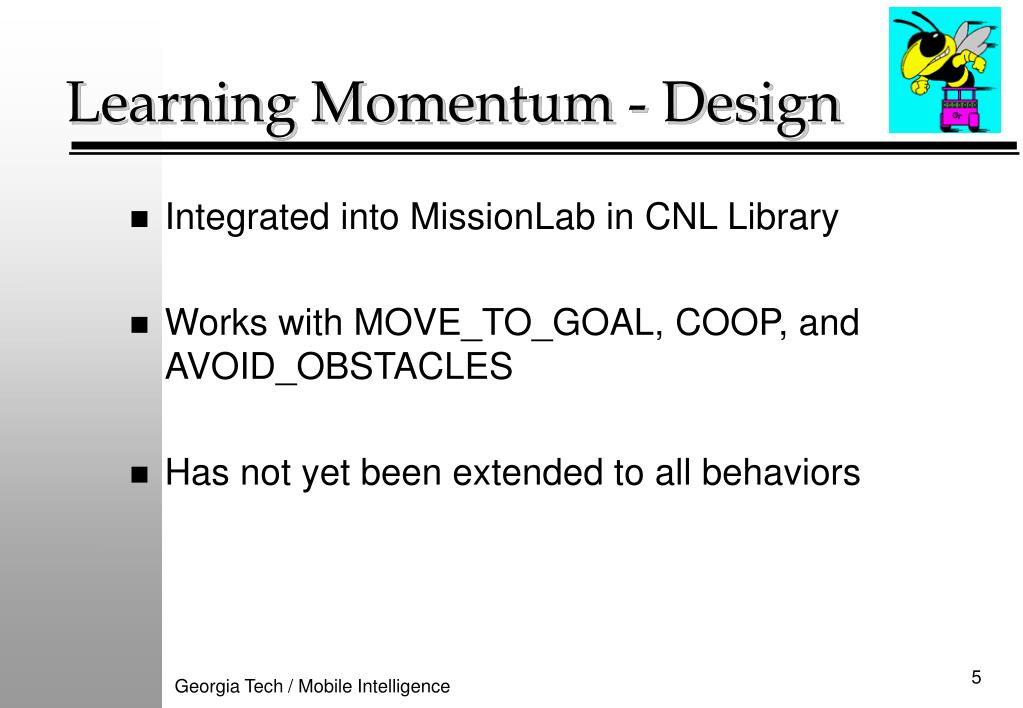 Learning Momentum - Design