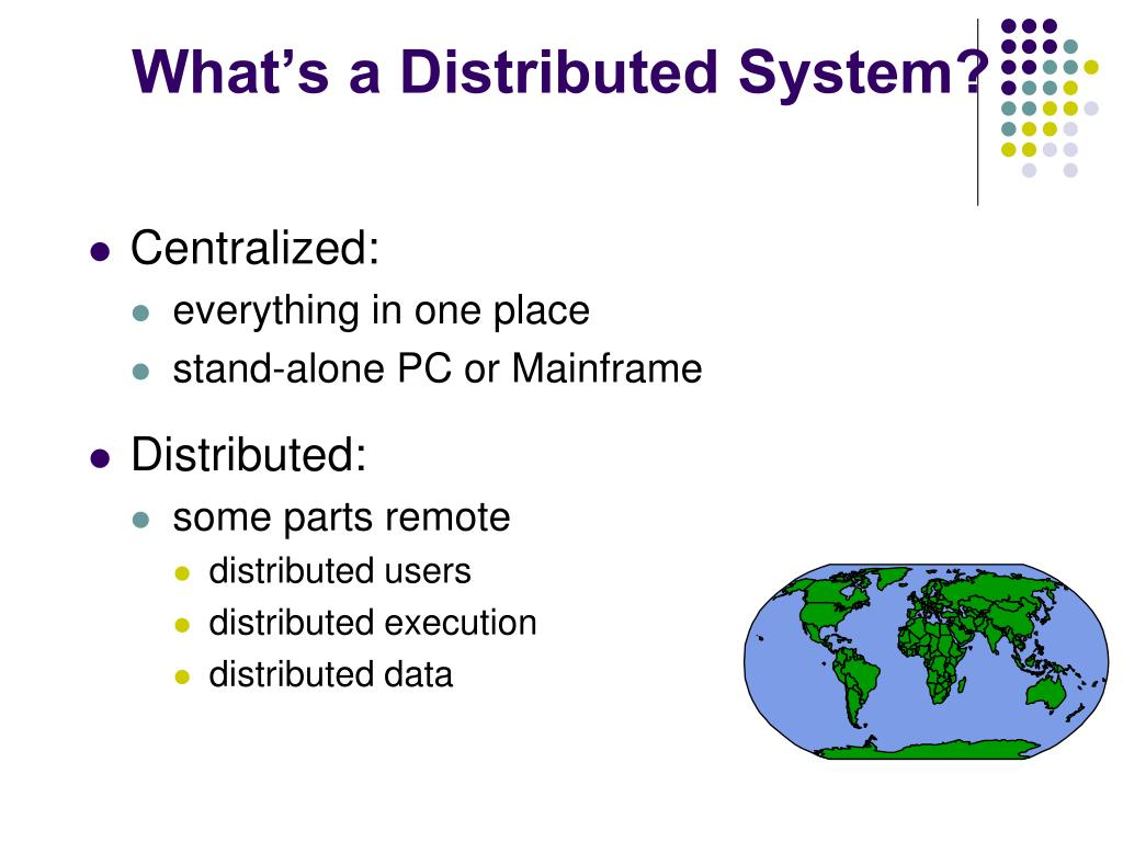 What's a Distributed System?