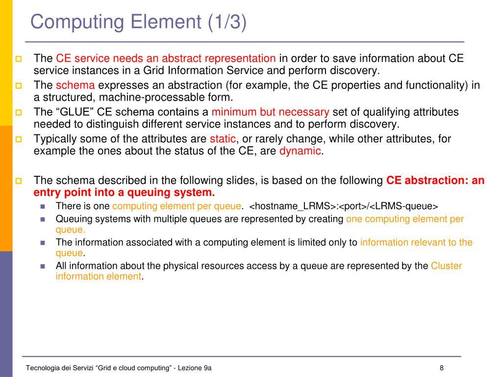Computing Element (1/3)