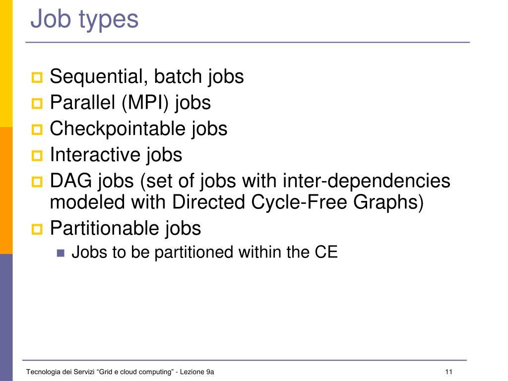 Job types
