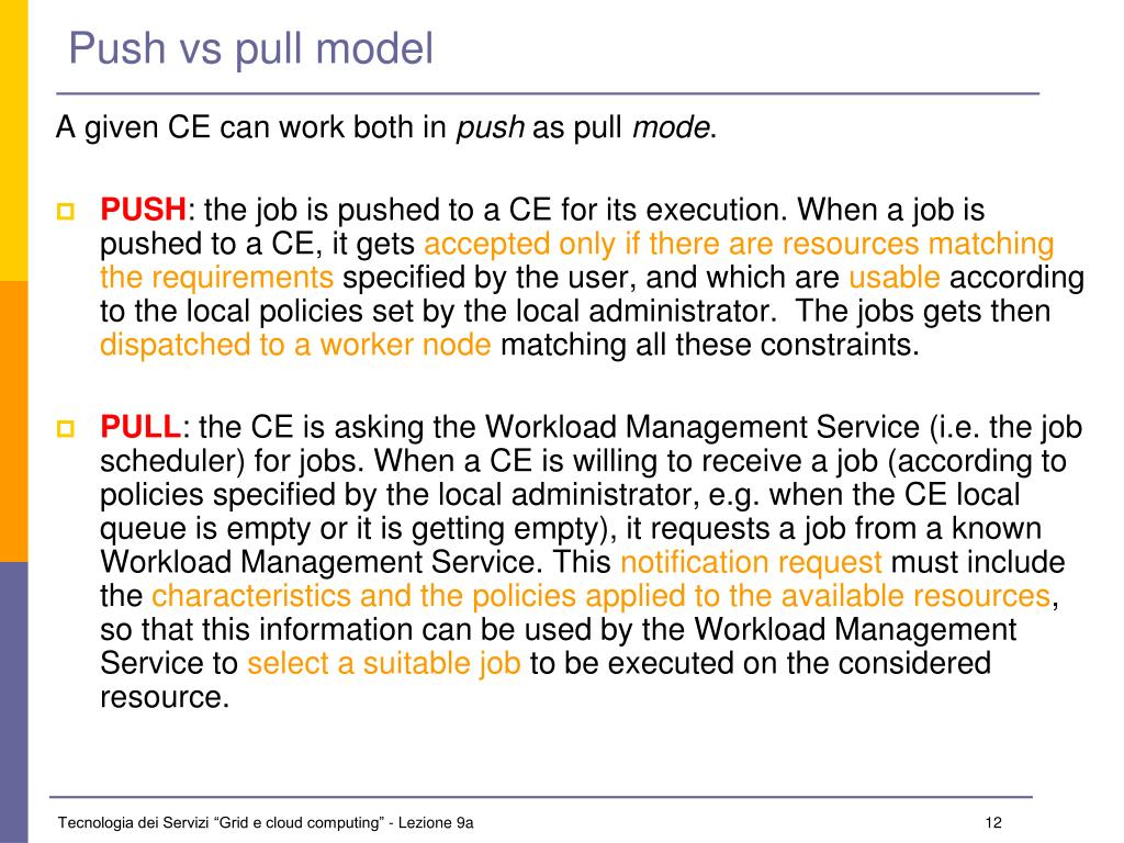 Push vs pull model