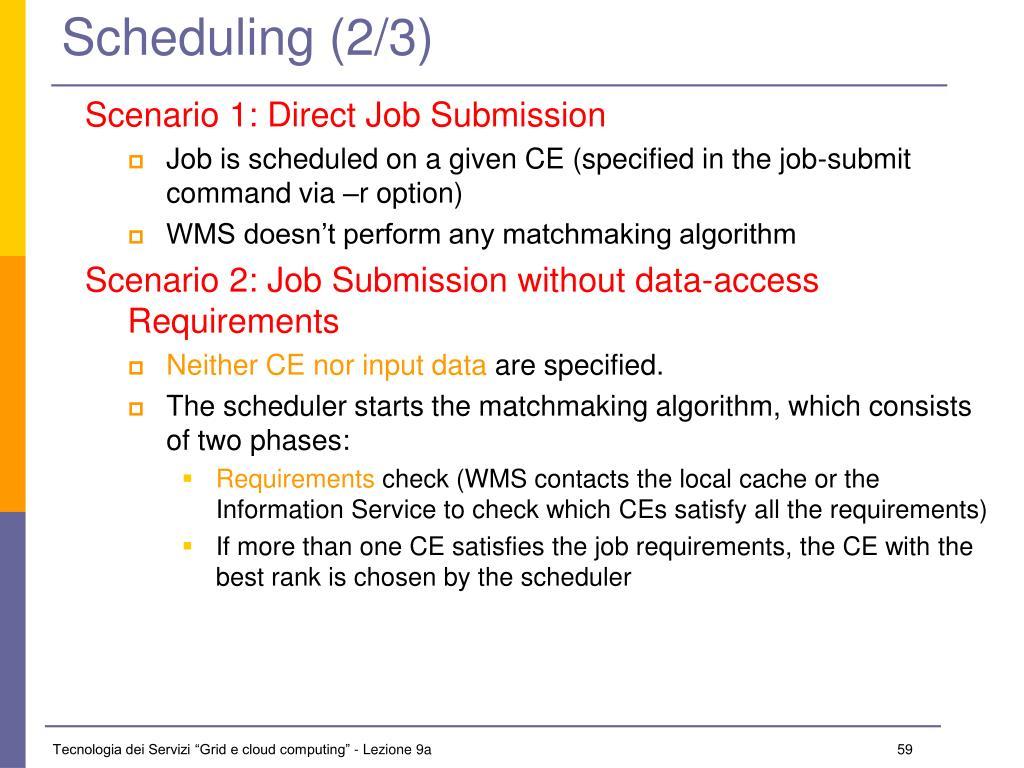 Scheduling (2/3)