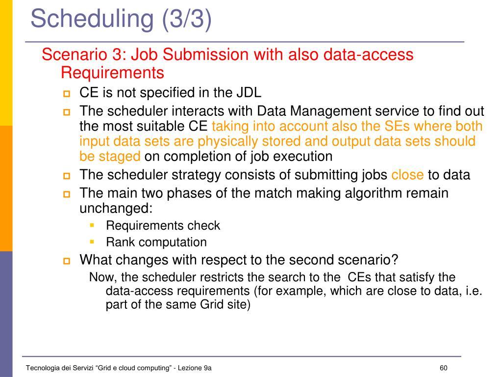 Scheduling (3/3)