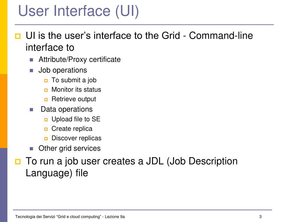 User Interface (UI)