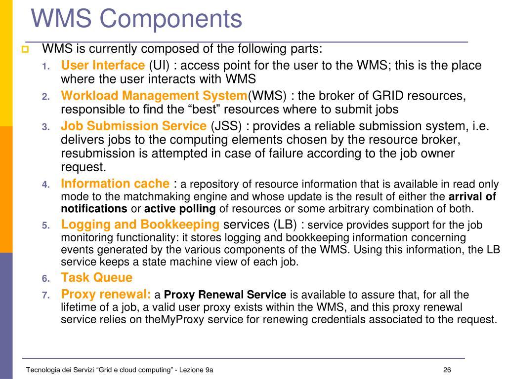 WMS Components