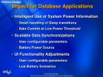 impact for database applications