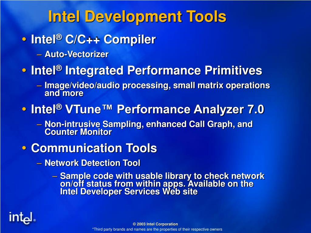 Intel Development Tools