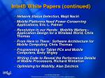 intel white papers continued