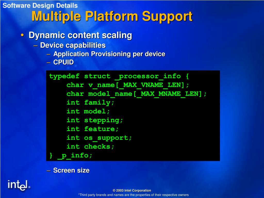 Software Design Details