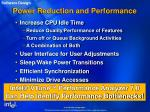 power reduction and performance