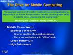 the drive for mobile computing