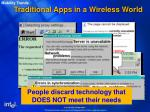traditional apps in a wireless world
