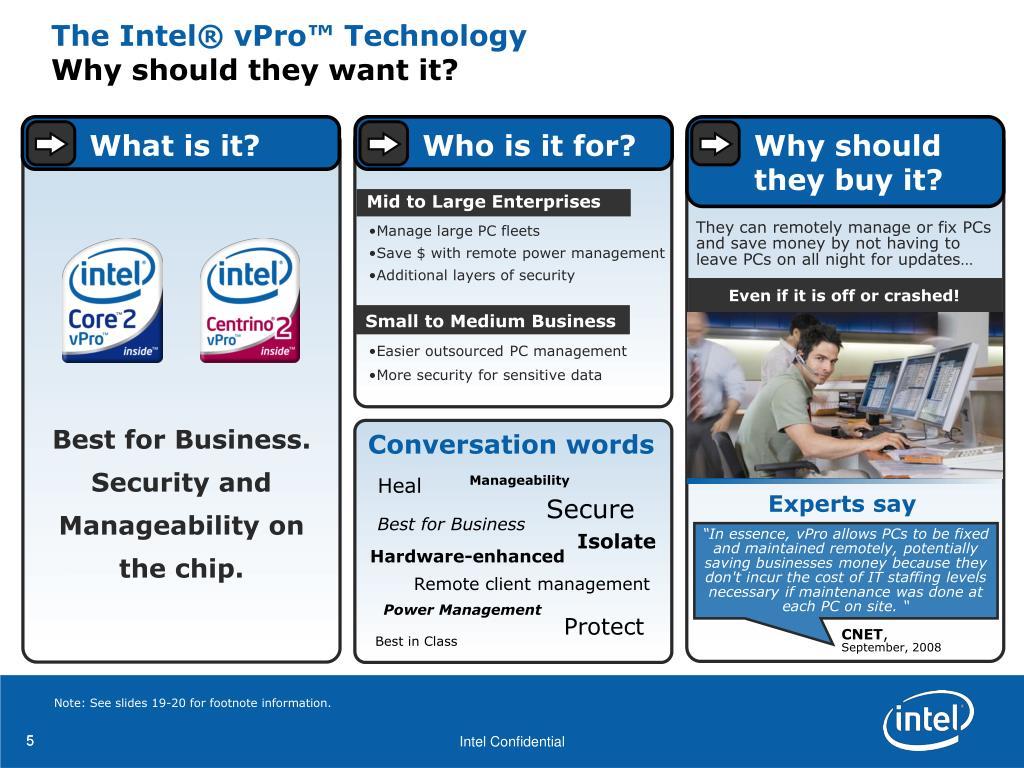 The Intel® vPro™ Technology