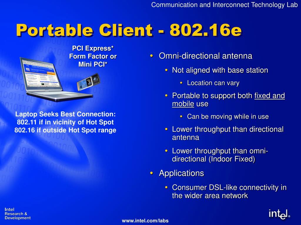 Portable Client - 802.16e