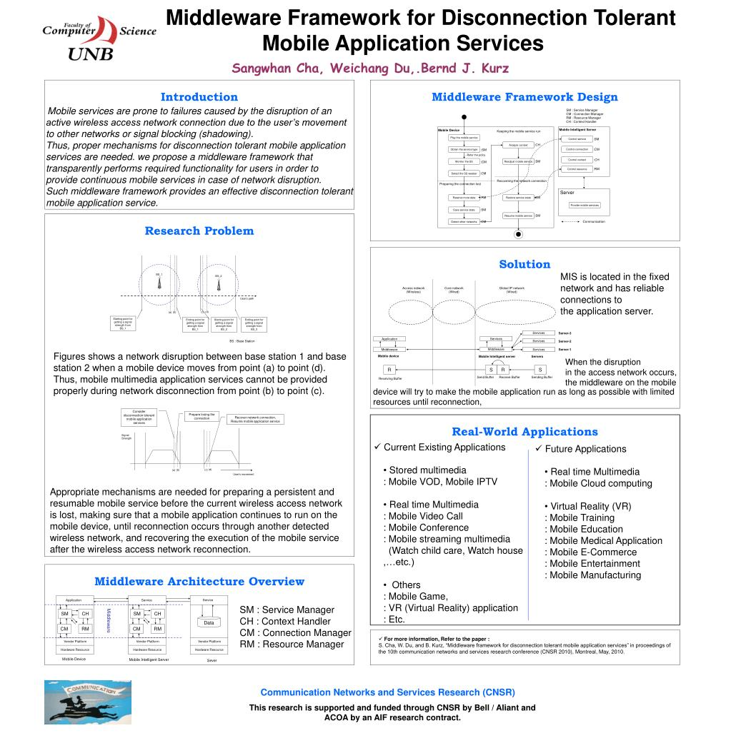 Middleware Framework for Disconnection Tolerant Mobile Application Services