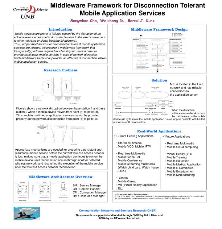 Middleware Framework for Disconnection Tolerant Mobile Application Services