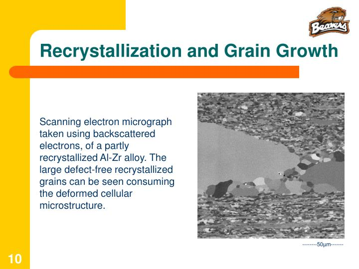 Recrystallization and Grain Growth