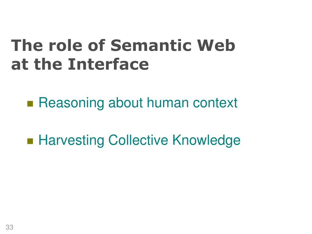 The role of Semantic Web