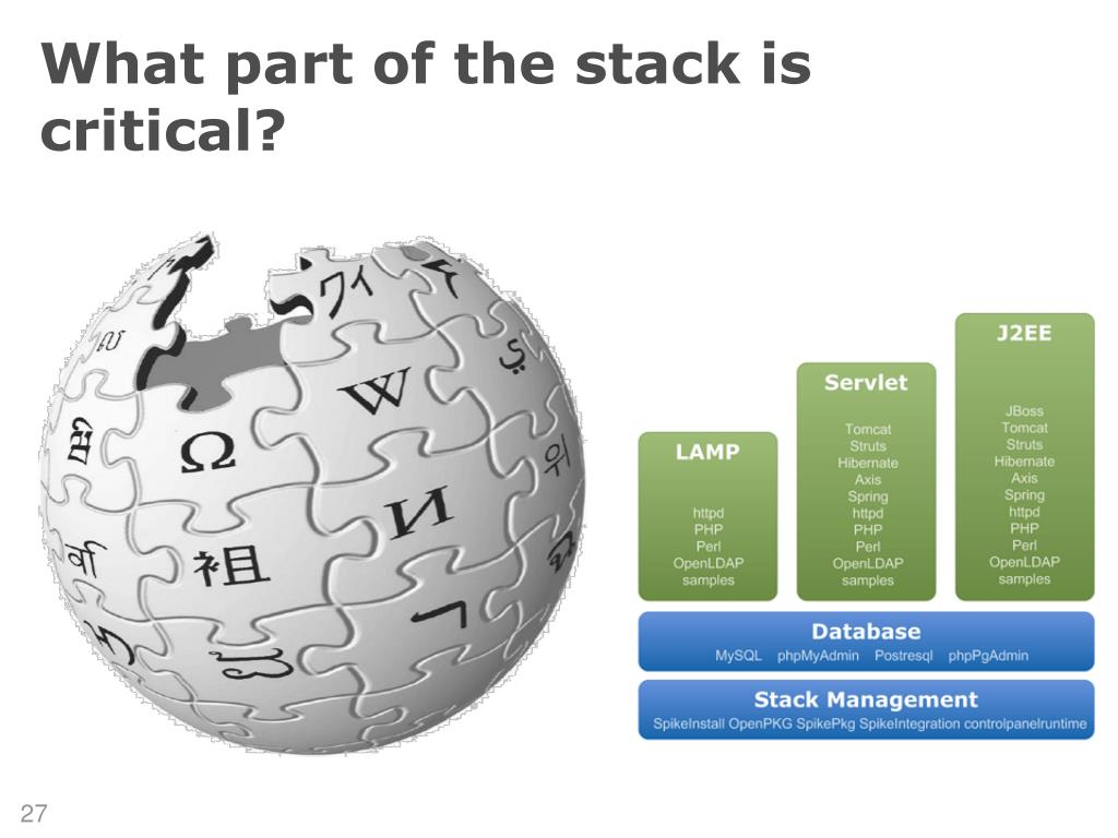 What part of the stack is critical?