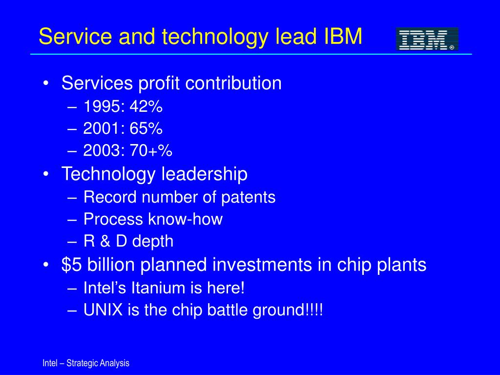 Service and technology lead IBM