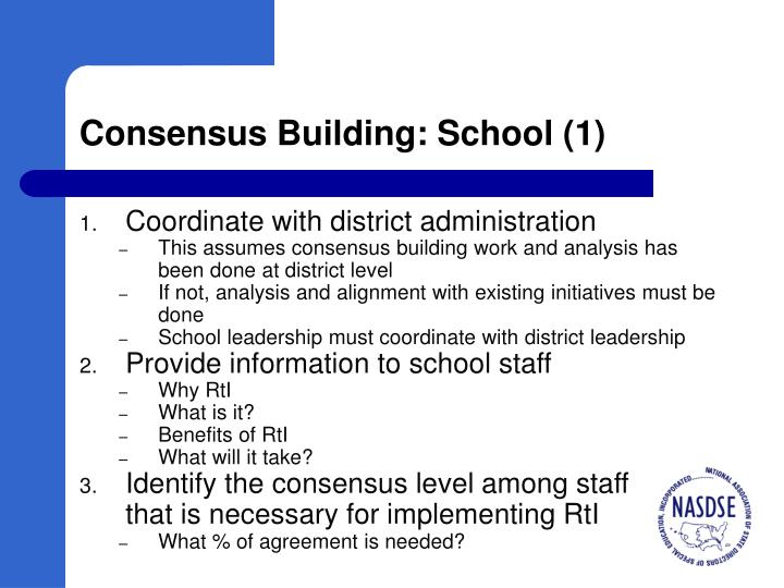 Consensus Building: School (1)
